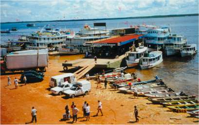 Jungle photos: The floating dock at Manaus, Brazil